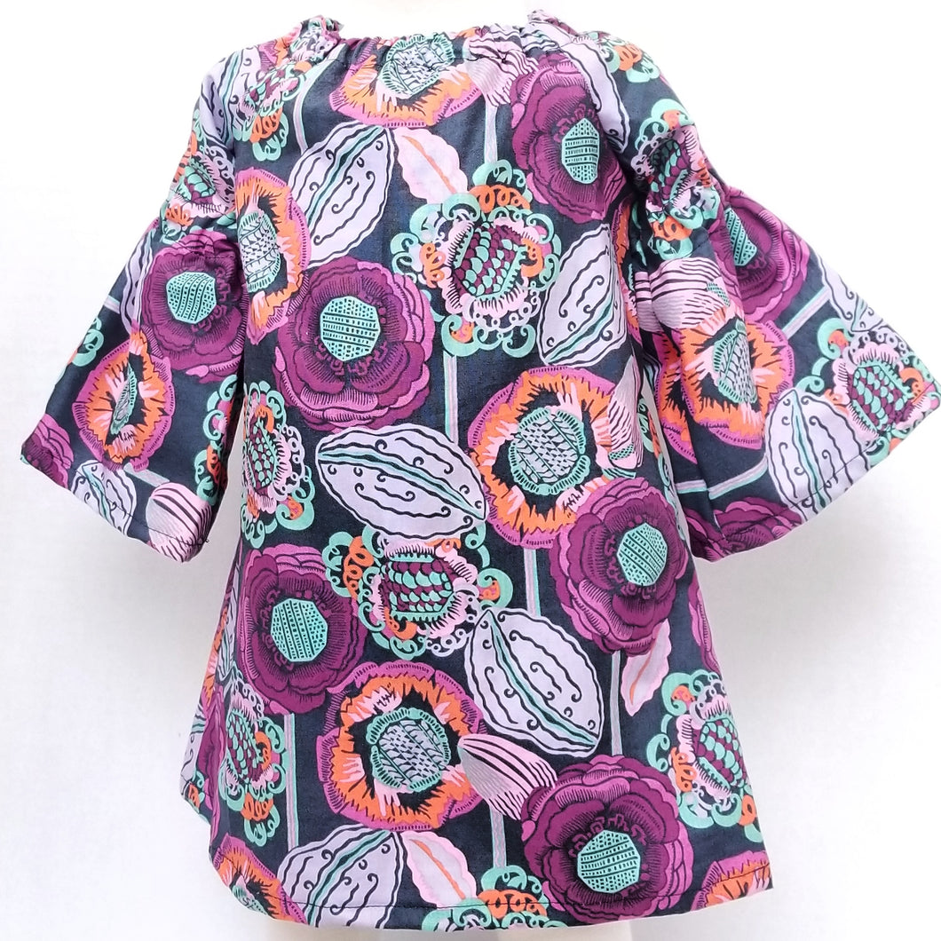 DribbleBabies Tunic Dress (purple flowers)