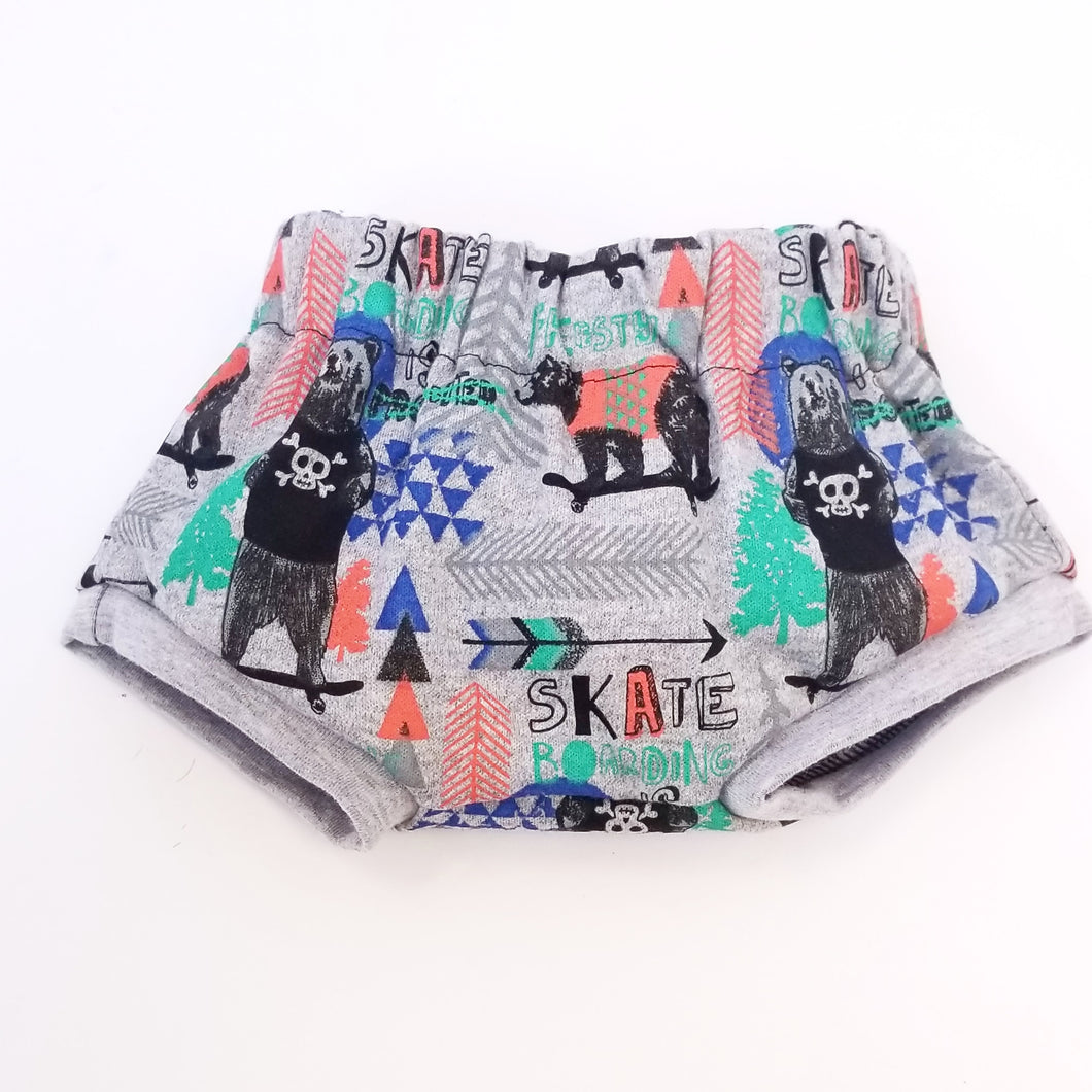 Baby Bum Shorts (Bear Skateboarder)