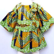 DribbleBabies Tunic Dress (African Print- Green)