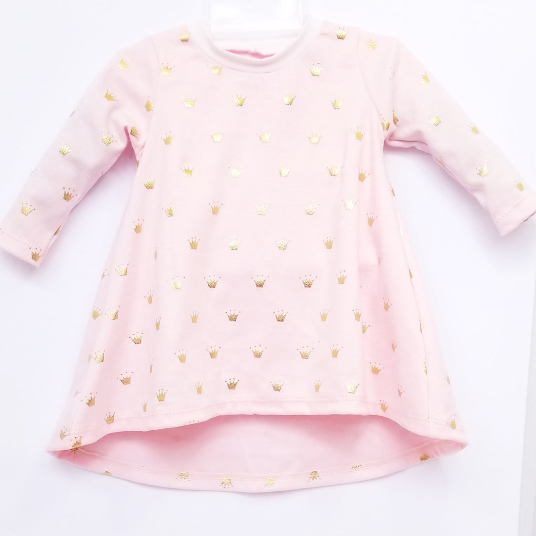 DribbleBabies - T-Shirt Dress (Princess Crown)
