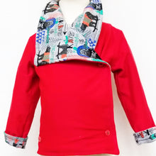 DribbleBabies - Reversible Jacket (Red/Bear Skateboarder)