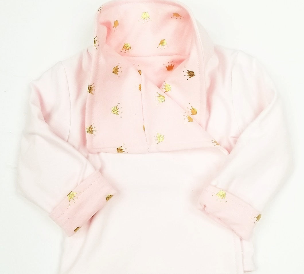 DribbleBabies - Reversible Jacket (Princess Crown)