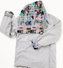 DribbleBabies - Reversible Jacket (Grey/Bear Skateboarder)