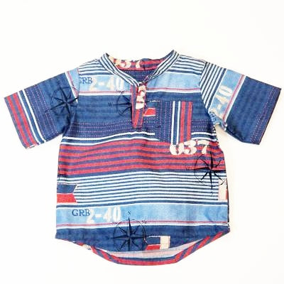 DribbleBabies - Classic Shirt (Nautical Stripes)