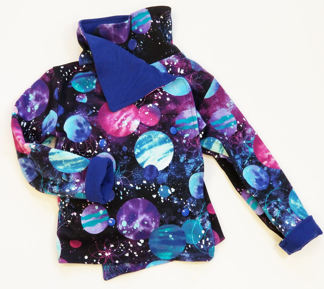 Reversible Jacket (Space Print) - Dribblebabies