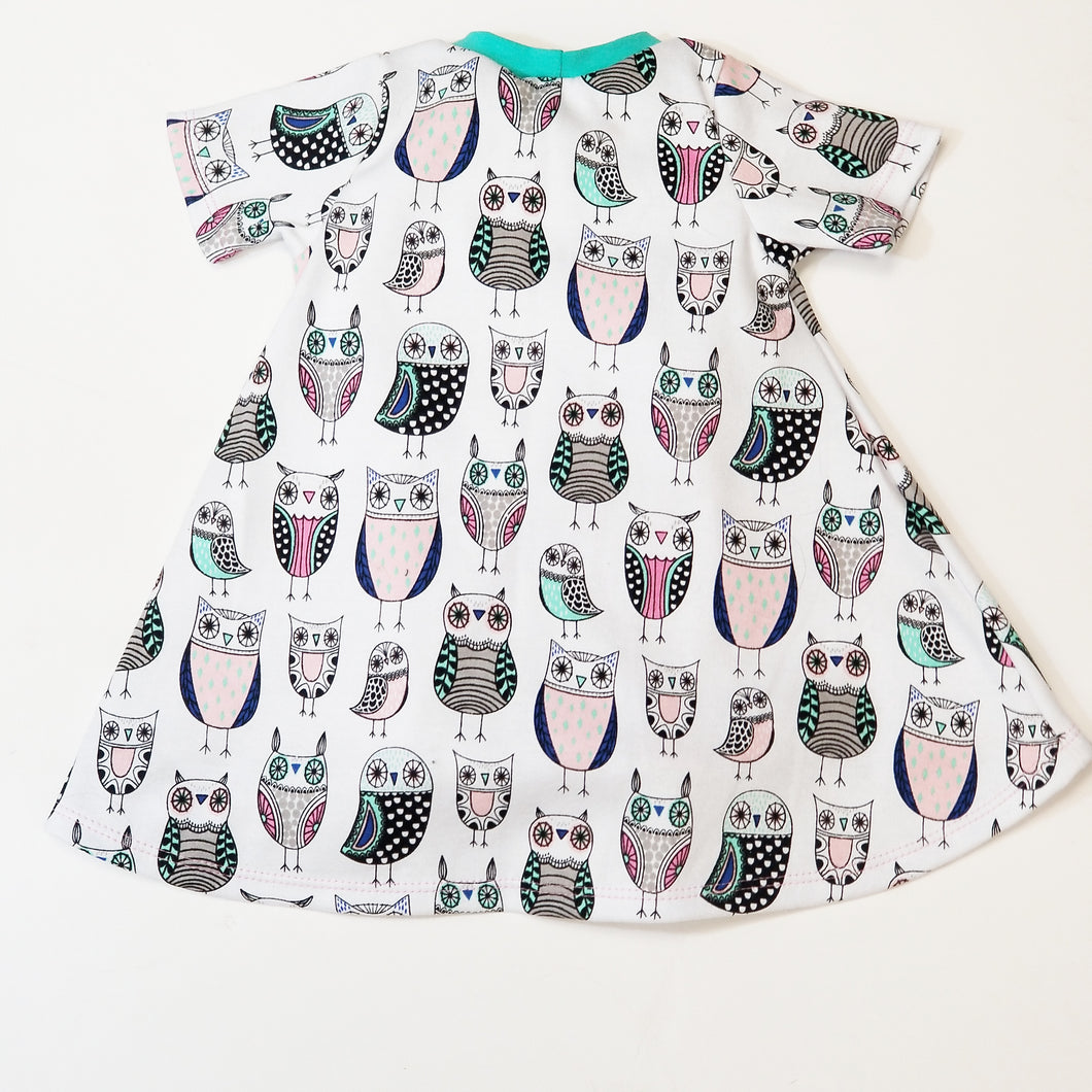 T-Shirt Dress (Owl) - Dribblebabies