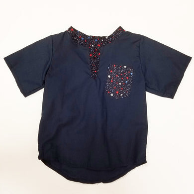 DribbleBabies - Classic Shirt (Red, White and Blue Star) - Dribblebabies