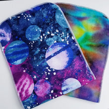 DribbleBabies Burp Cloths - 2 Pack (Purple Space) - Dribblebabies