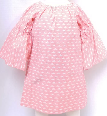 DribbleBabies Tunic Dress (Pink Pyranid)