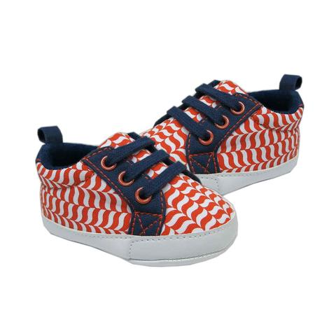 Orange and Blue Baby Shoes - Dribblebabies