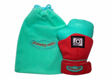 Yummy Mitt® Teething Mitten - Red & Turquoise