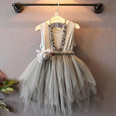 Soft Gray Tutu Dress - Dribblebabies