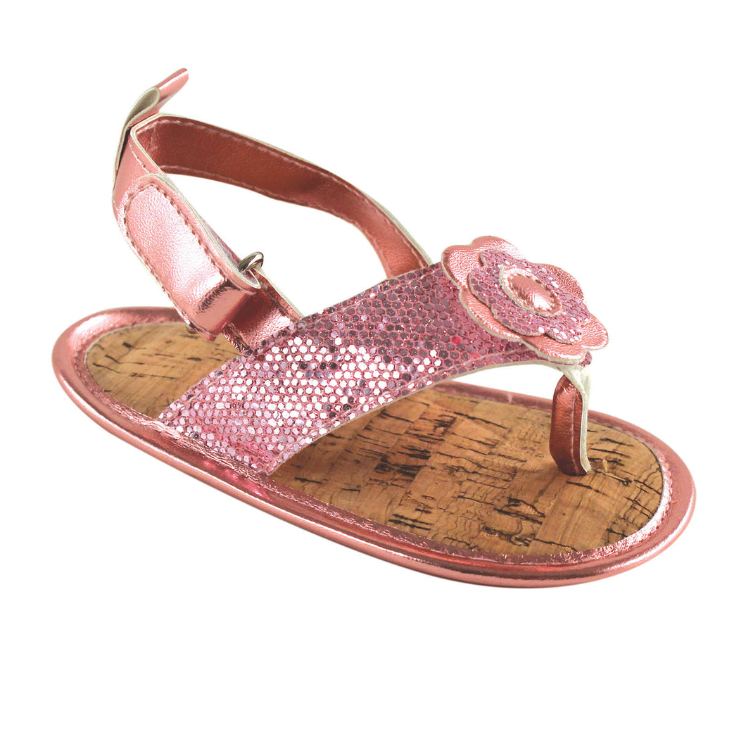 Sparkly Sandals (Light Pink) - Dribblebabies