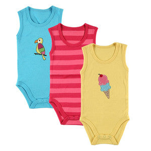 Sleeveless Bodysuits (3 pack) - Dribblebabies