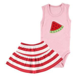 Sleeveless Melon Top and Skirt Set - Dribblebabies