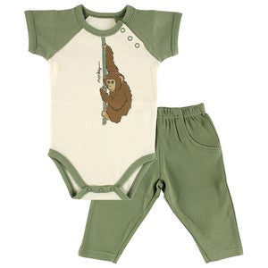 Organic Bodysuit and Pants Set