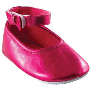 Pink Ankle Bow Strap Shoes - Dribblebabies