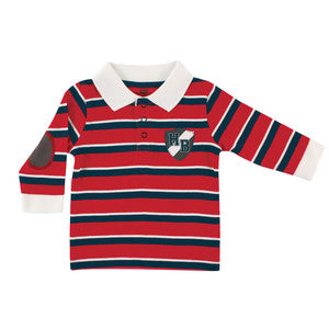 Red and Blue Striped Rugby Shirt - Dribblebabies