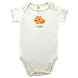 Organic Cotton Bodysuit (Orange) - Dribblebabies
