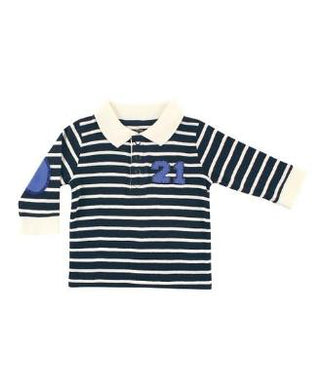 Blue Striped Rugby Shirt - Dribblebabies