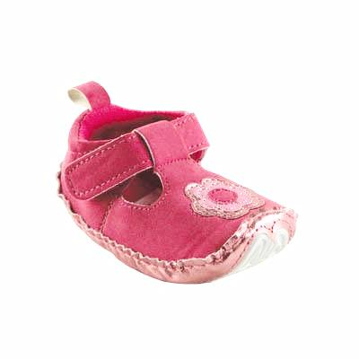 Baby Mary Jane Shoes - Pink - Dribblebabies