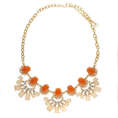 ORANGE BLOSSOM BIB NECKLACE
