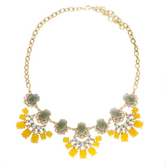 CANARY YELLOW BAUBLE NECKLACE