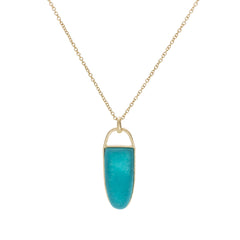 BLUE ROCKIE PENDANT NECKLACE