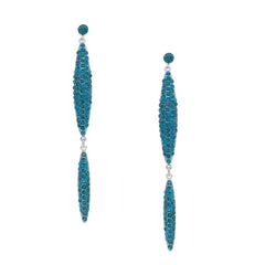 Teal Sparkly Long Earrings