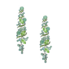 Mint Sparkly Long Earrings