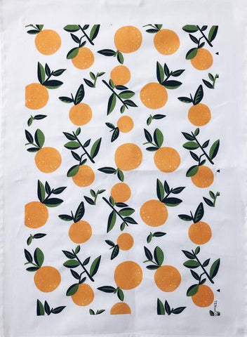 Vintage Orange Tea Towel