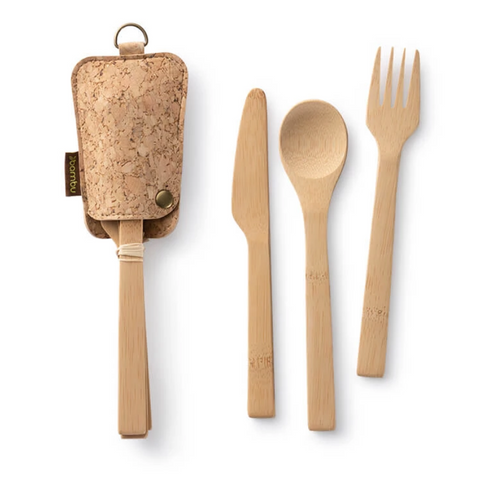 Travel Utensil Set with Eco Conscious Pouch