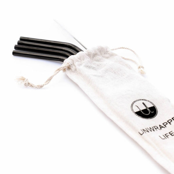 Reusable Stainless Steel Straw (Pack of 4)