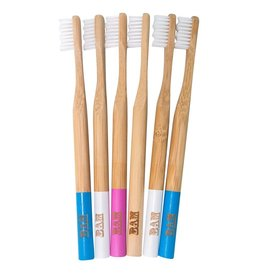 BamBrush Bamboo Toothbrush (4 colours available)