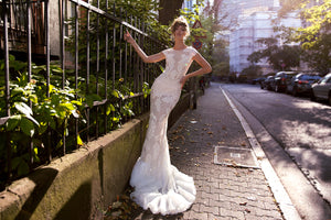 083 Mia Fitted Wedding Dress with Cup Sleeve