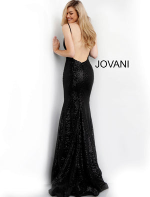 Black Fitted Backless Sequin Prom Dress 59691 - Channy Bride & Beyond