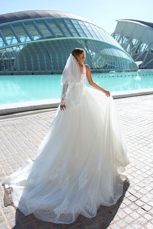 2T Short Wedding Bridal Veil CBBF058