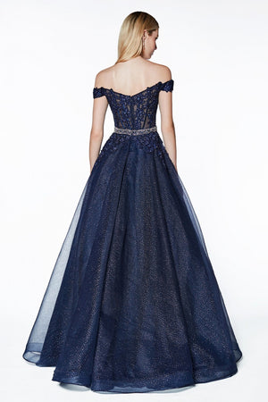 Off the shoulder ball gown - Channy Bride & Beyond
