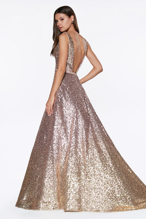 Ombre sequin ball gown - Channy Bride & Beyond