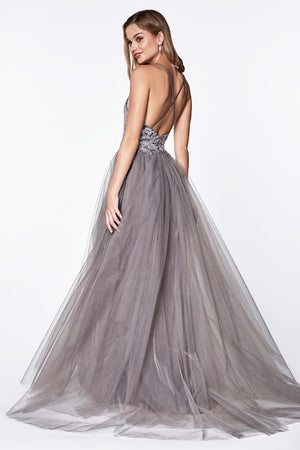Flowy A-line tulle dress