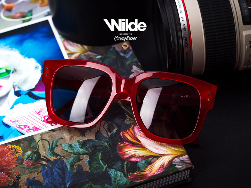 Red Sunglasses Model D.B.  Down 2019 - Open 2020. By Wilde.