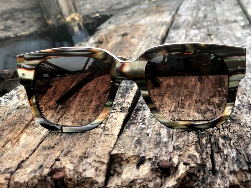 Sunglasses Model D.B. Warm Transparent. Down 2019 - Open 2020. By Wilde.