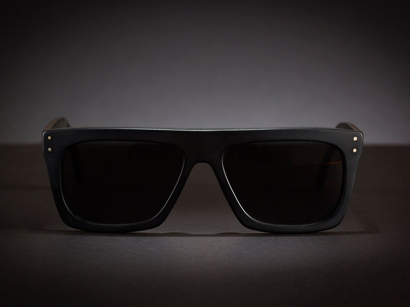 BLACK SUNGLASSES - OSCAR-XL-MATTE - 100% UV PROTECTION - BY WILDE SUNGLASSES