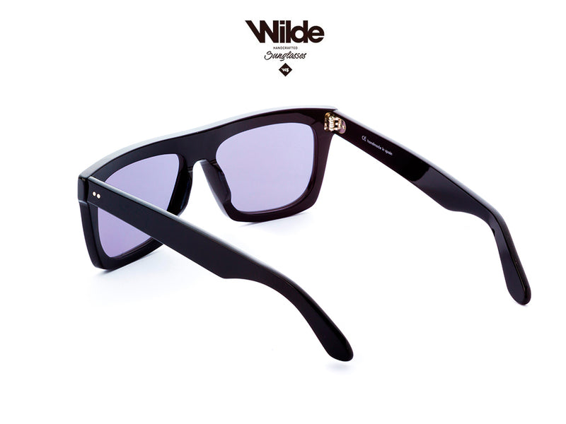 BLACK SUNGLASSES - OSCAR-CLASSIC BLACK - 100% UV PROTECTION - BY WILDE SUNGLASSES