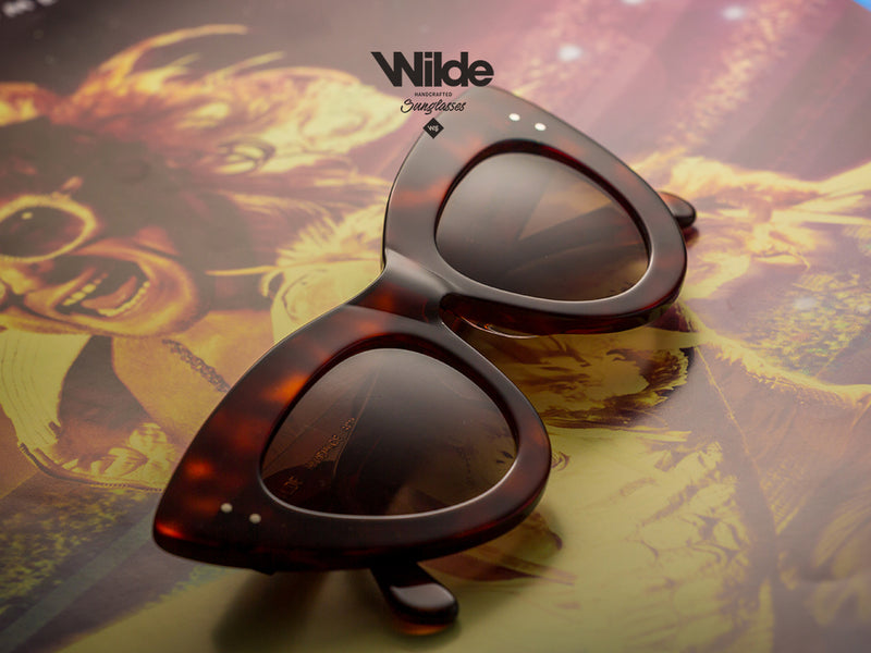 YANNI DARK TORTOISE BY WILDE  SUNGLASSES