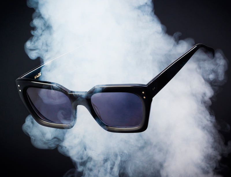 New Black Matte Sunglasses mod. MINERVA 2020. Handmade by Wilde