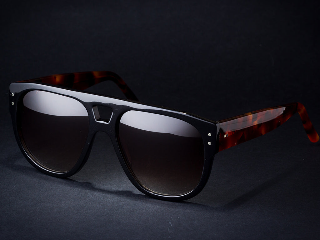 Sunglasses mod. Local Black Tiget 2020. Retro Vintage style. Handmade by Wilde Sunglasses. Best online Store.