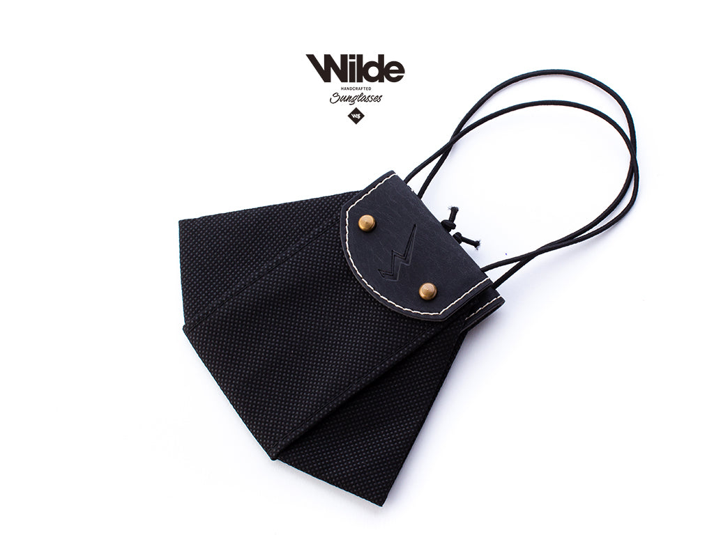 WILDE MASK BLACK LEATHER.