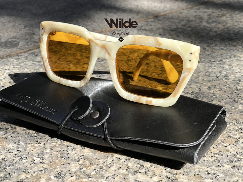 NEW OSAKA WHITE MARMOL SPECIAL EDITION BY WILDE SUNGLASSES 5/5