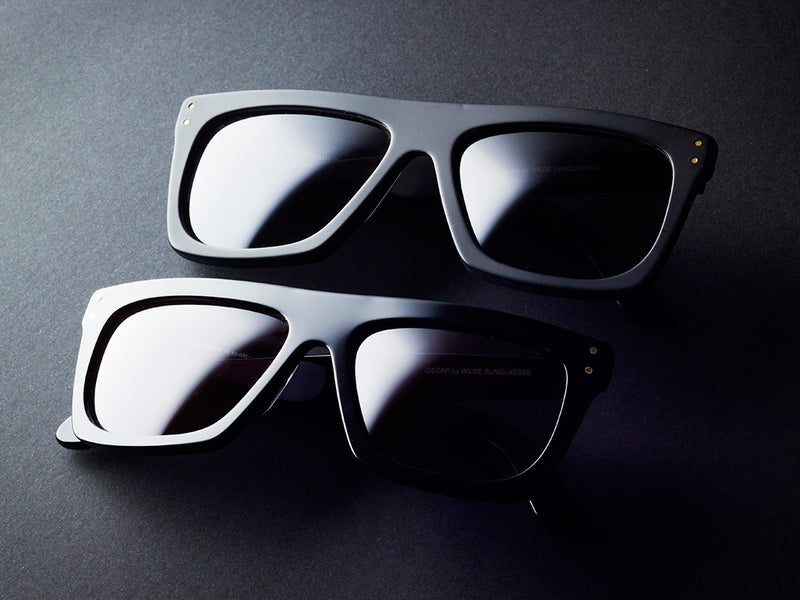 OSCAR BIG <BR> BLACK SUNGLASSES MATTE